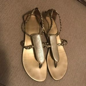 gold cole haan women's sandals